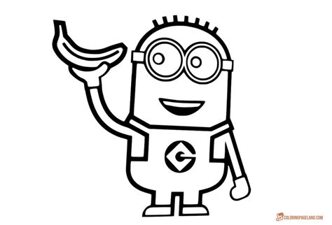 minion template minion coloring pages for free printable templates