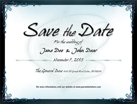 save the date templates wedding save the date template 1 by mikallica on deviantart