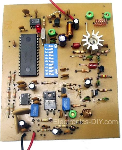 1w pll transmitter with mc145152 technology in 2019 electronic schematics diy electronics