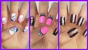 Easy Nail Art For Beginners!!! #15 MissJenFABULOUS - YouTube