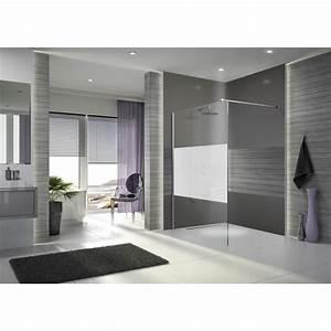 paroi de douche a l39italienne open 2 verre serigraphie With porte de douche à l italienne