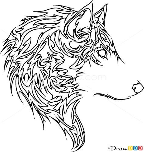 tribal wolf tattoo   draw tribal tattoos