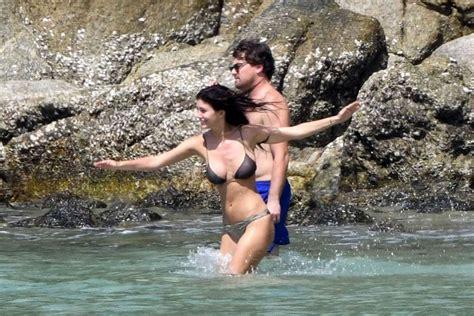 Camila Morrone And Leonardo Dicaprio On The Beach In