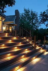 Deck lighting ideas traditional with