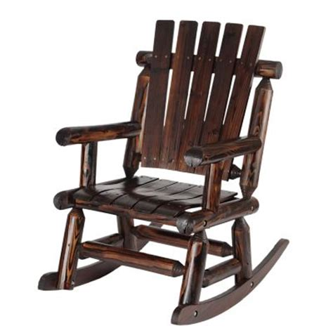 tractor supply log rocking chair shed rustic stained log rocker kabox