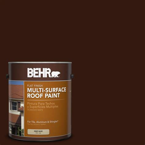 behr 1 gal rp 20 bark brown flat multi surface roof paint 06601 the home depot