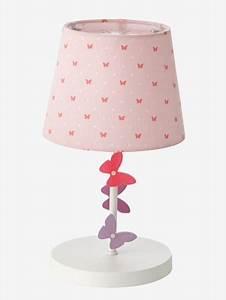 Lampe De Chevet Pour Enfant : lampe de chevet papillons rose vertbaudet ~ Melissatoandfro.com Idées de Décoration