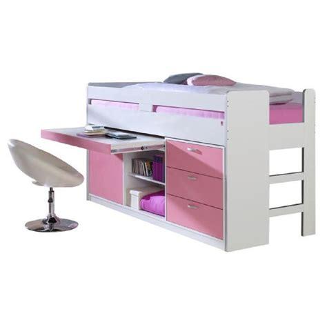 lit mi hauteur avec bureau lit mi hauteur combiné 90x200 cm avec 3 tiroirs 1