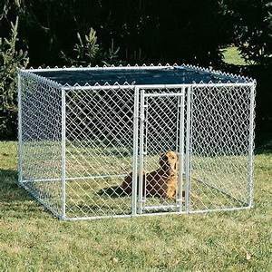 medium outdoor 6 x 6 feet steel chain link portable yard With outside dog cage