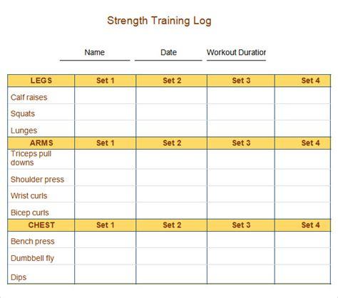 workout plan template pdf 9 workout log templates sle templates
