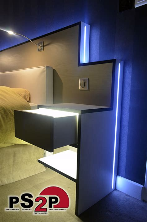 led chambre tete de lit lumineuse led maison design sphena com