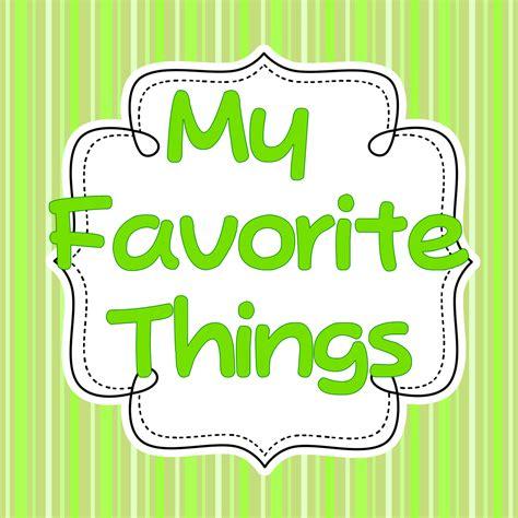 My Favorite Things Linky - Sharing Kindergarten