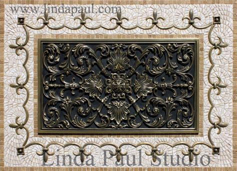 kitchen backsplash metal medallions kitchen backsplash plaques ravenna decorative tile medallion