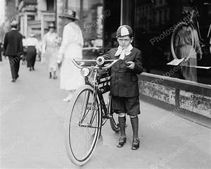 Irritated Boy With New Bike 1921 Vintage 8x10 Reprint Of