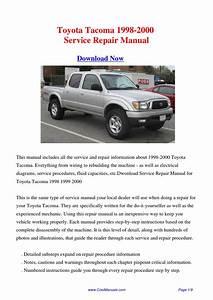 Toyota Tacoma 1998-2000 Repair Manual By Hong Ling