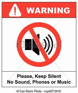 Clip In Silence : prohibited sign for keep silent vector symbol for public vector clipart search ~ Frokenaadalensverden.com Haus und Dekorationen