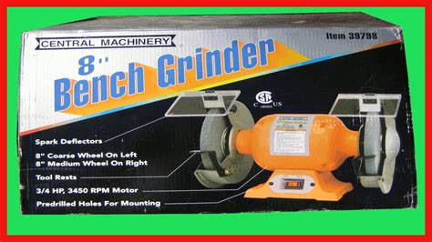harbor freight bench grinder harbor freight 8 in bench grinder tool review