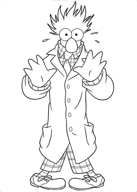 muppets  wanted coloring pages birthday printable