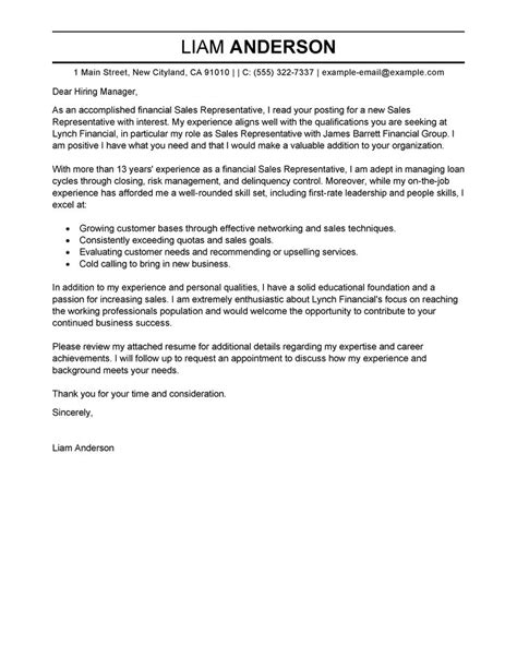 exles of professional cover letters for resumes