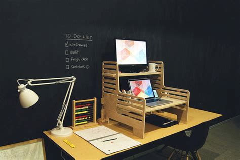the upstanding desk transforms your regular desk into a