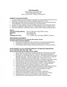 resume exles sle qa resumes with work history as