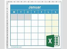 Gratis 2018 Kalender ExcelKalenderskabelon