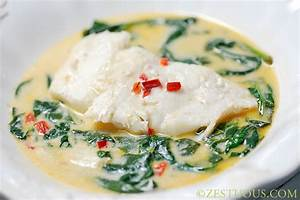 Coconut Milk Poached Cod with Spinach and Peppers