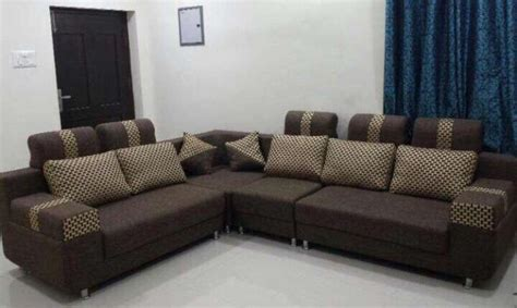 Fabric Sofa Sets For Sale by Brand New L Shaped Sofa Set In Jute Fabric Pune Zamroo
