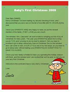 babys first christmas letter from santa angel design With baby s first christmas letter from santa template