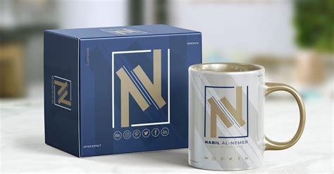 desain mockup mug  kotak packaging format psd desain