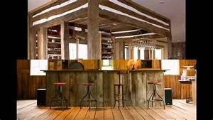 Rustic bar design ideas - YouTube