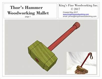 Hammer Plans Mallet Woodworking Thor Mjolnir Sled