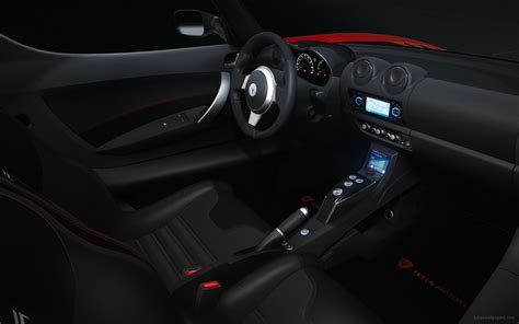 tesla roadster sport interior wallpaper hd car