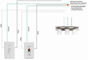 Lighting - Wiring A Light Fixture In Bathroom Attached To A Switch And Gfci