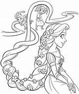 Coloring Pages Rapunzel sketch template