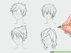 Draw Manga Hair | Manga hair, Anime hair and Drawings