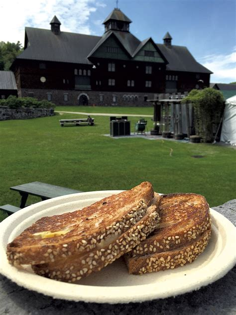 grilled cheese   great view  shelburne farms