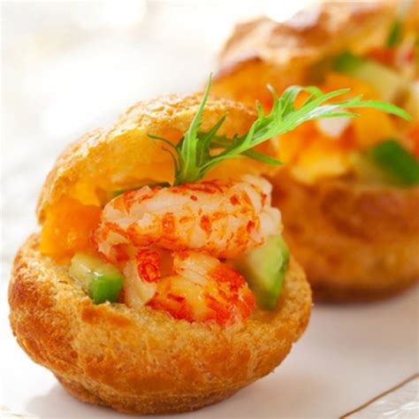 canape recipes a delicious recipe for prawns with avocado canape these