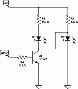 designing a circuit with a bi colored led for indicating With rgb led circuit