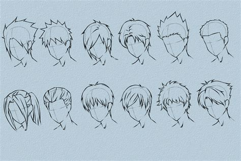 Model Hairstyles For Male Anime Hairstyles How To Draw