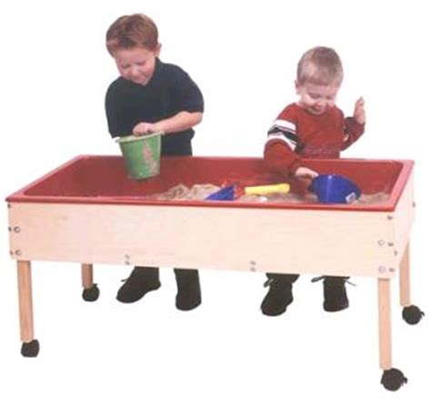 how to sand a table sand and water sensory tables for classroom daycare and
