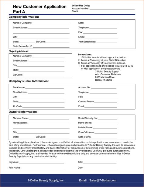 Customer Details Form by New Customer Form Template Word Portablegasgrillweber