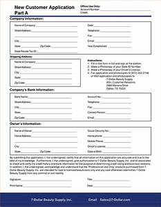 information form template word sample business reports With new account application form template