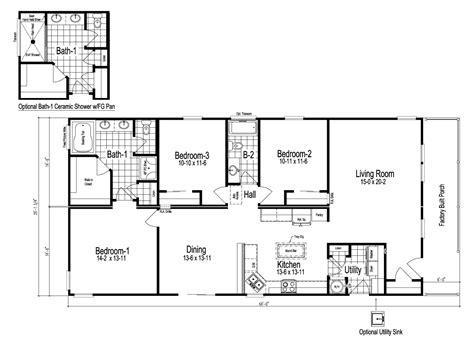 blueprints for homes wilmington manufactured home floor plan or modular floor plans