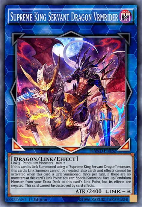yugioh pendulum deck link format supreme king servant vrmrider advanced card