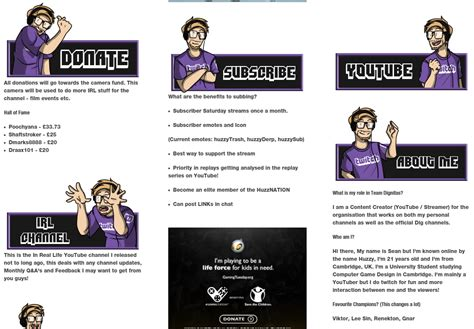 twitch info panel templates 11 killer exles of twitch panels you must see