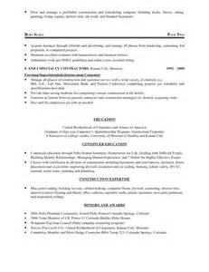 resume for construction business owner burts resume 1