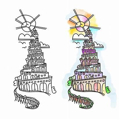 Bible Journaling Genesis Babel Tower Elements Creative