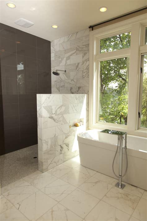 shower half wall half wall half glass shower
