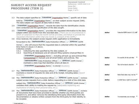 write  gdpr compliant data subject access request
